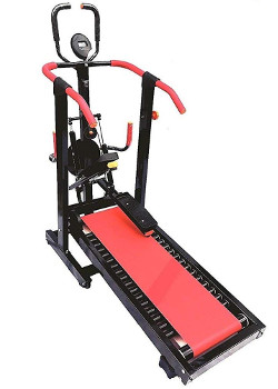 GYM FUEL 4 in 1 Manual Jogger Foldable Treadmill